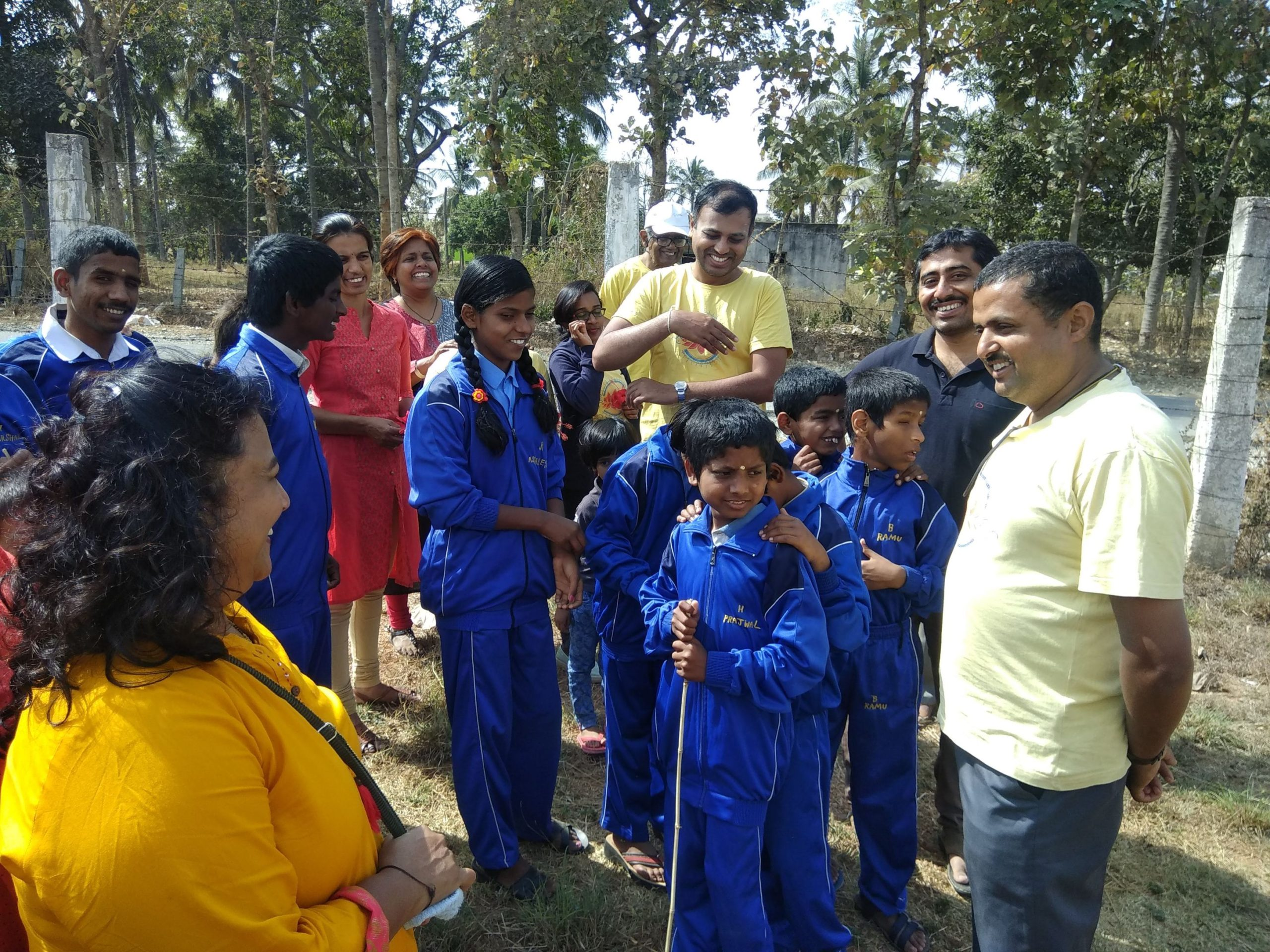 Check well being of Visually challenged students in Belaku